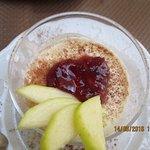 la panacotta avec mangue et pommes granny