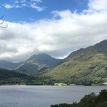 View from above hotel with Ben Ime, Ben Vorlich and Loch Sloy hydro scheme