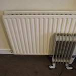 This is the tiny radiator to cover the fact that there was no heating in this room.