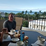 Breakfast with a view from our lanai in room 705!