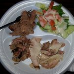 A plate of meat