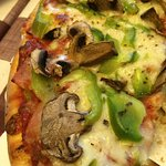 Ham mushroom and green pepper pizza from Little Italian Pizza