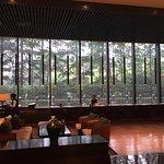 Puli Shanghai -- lobby entrance & Long Bar view toward Jing'an Park