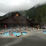 hot springs pools of different temperatures