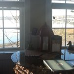 View from kitchenette area and Sheepscot Habour, Maine.