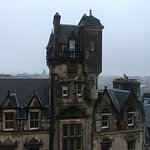 Fantastic view from the room on a rainy Edinburgh afternoon