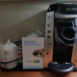In-room Keurings for coffee lovers. :)