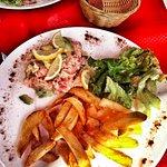 tartare de saumon = frite maison!
