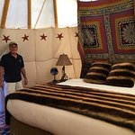 Now...this is Glamping...a King Size Bed!