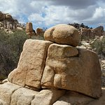 a funny rock formation on the trail. The Boutay?