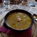 Zuppa di castagne, bacon e lenticchie