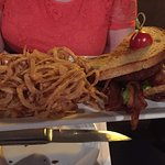 BLT and onion straws