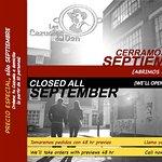 Closed on September