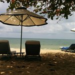 Instalaciones del hotel en la playa