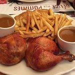 Double Cuisse de poulet et frites