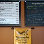 Oven specialties and specials on the day of our visit