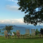 we sat with fellow diners in rocking chairs on the Inn's lawn. This is a lot better than TV!