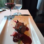 Entree - venison with beets. Melted in my mouth!