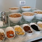 Breakfast options in the Executive lounge