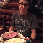 Man the portions are huge, as well as the prices.    16oz Prime Rib!