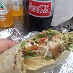 Big burrito full of fish and flavor!