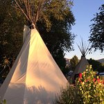 You can rent tipis at this KOA! (July 13th, 2016)