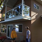 Cabin 12 on the beach side. Master bedroom deck above