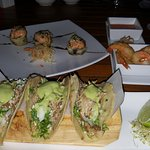 Mmm, Duck Tacos and Tequila Shrimp!