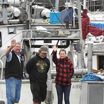 Leonard and Family: son Daniel and daughter Shannen at Bella Coola Marina