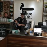 Great coffee and friendly service. I had a flat white and ordered the smoked salmon on rye. Love
