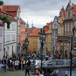 Nerudova Street on the way to Prague Castle - A short walk from The Alchymist