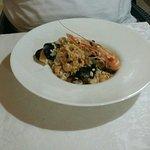 Fish plate and ancora rissoto