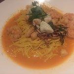 Seafood Saffron Linguini  - Tavola, Seaside GA