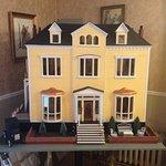 ein Modell des Hotels stand im Frühstücksraum