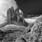Le tre cime viste dalla Forcella LAvaredo