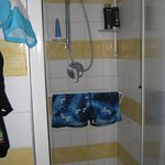 dryer for sim suits-in the shower cabin!