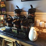 There is always a variety of hot, freshly brewed Door County Coffee.