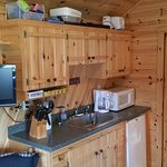 The kitchenette of the cabin.