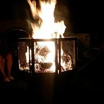 Our big bonfire every night for s'mores.
