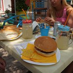 Good sized Burgers and Sandwiches washed down with homemade lemonade