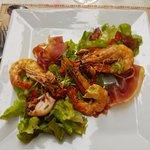 Salad de Gambas et Chipirons