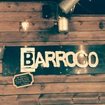 Barroco sign near the bar area
