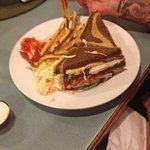 Reuben (coleslaw instead of sauerkraut ) - great fries