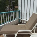Lounge chair on balcony