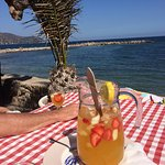 This is were we both went after having a swim most days. Marguerite served the best Sangria I ha