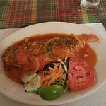 whole red snapper creole style - before