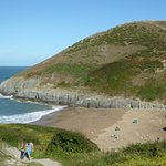 Mwnt beach viewed from the cafe