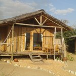 One of the beach chalets