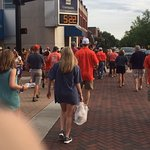 Tiger fans both Clemson and Auburn at Toomer's Corner