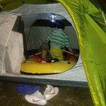 il marinaio nella tenda